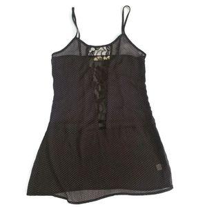 🥂 UO Pins & Needles Black Polka Dot Tank Top